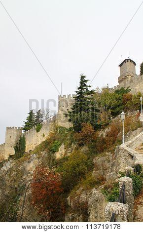 Tower Guaita on Mount Titano in San Marino