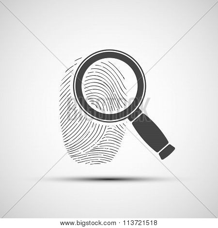 Human Fingerprint. Stock Illustration.