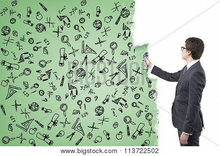 Businessman Painting Scientifi? Icons