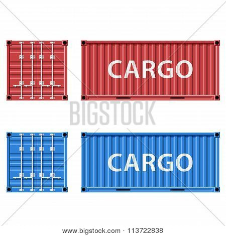 Cargo Container. Stock Illustration.