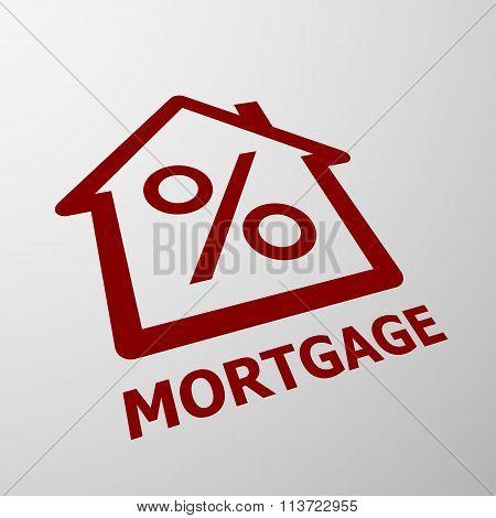 Mortgage. Stock Illustration.