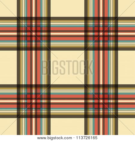 Seamless Tartan - Beige And Colored