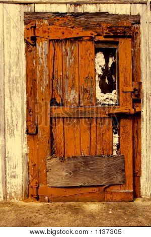 Old Orange Door