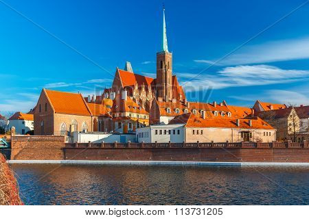 Cathedral Island in the morning, Wroclaw, Poland