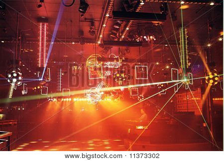 Disco Lighting in club
