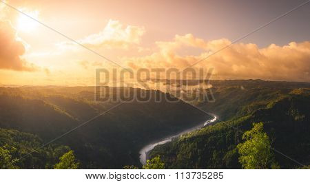 Sunrise over the valley