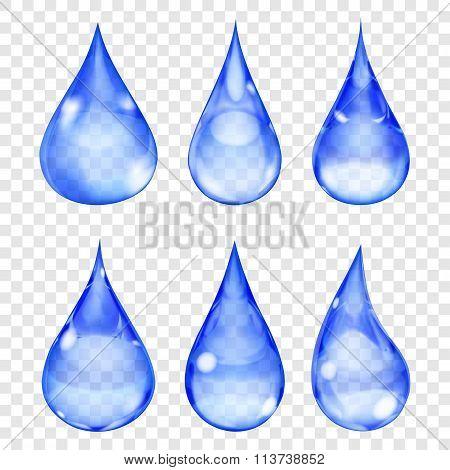 Transparent Blue Drops