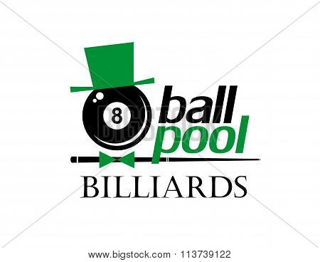 Billiards. 8 ball pool. Vector illustration.