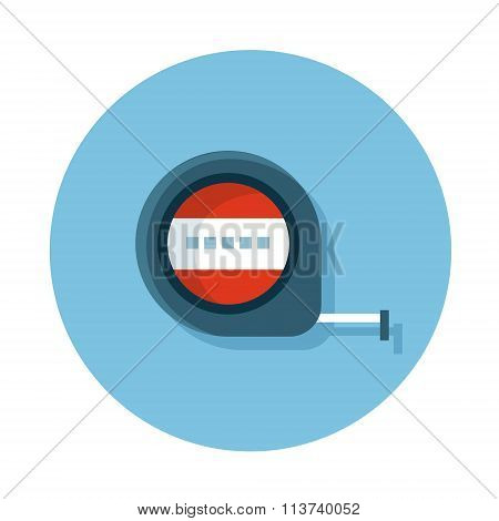 Flat icons with measuring Tape