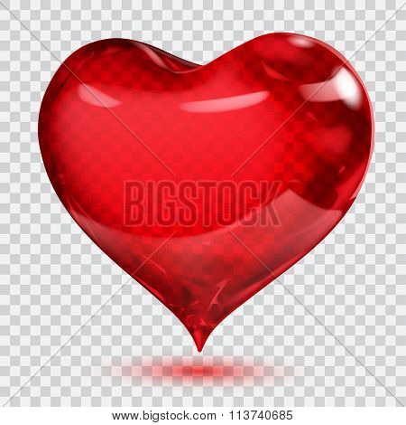 Transparent Glossy Red Heart