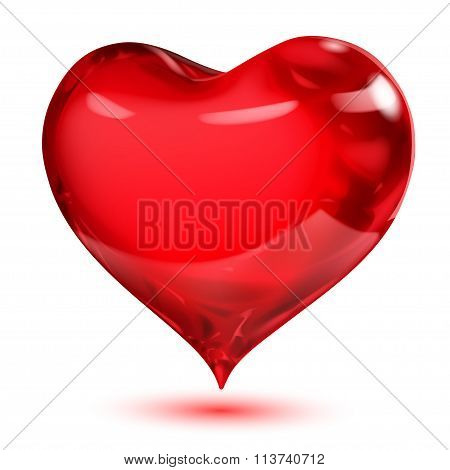 Opaque Glossy Red Heart