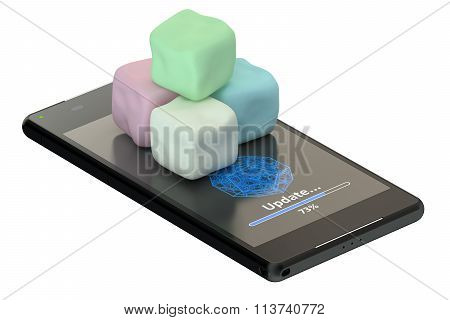 Smartphone And Marshmallows