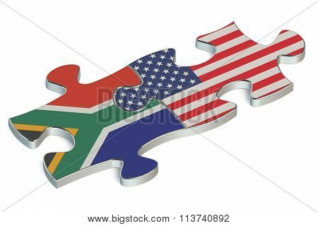 Usa And South Africa Puzzles From Flags