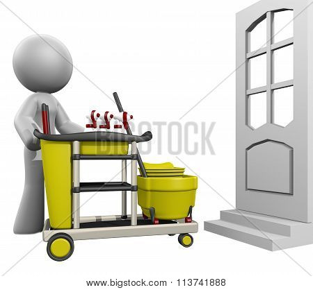 3D Lady House Cleaning