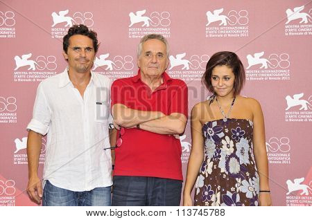 Actors Pier Giorgio Bellocchio Director Marco Bellocchio and Actress Elena Bellocchio