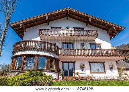 Building In St.wolfgang Im Salzkammergut-austria..