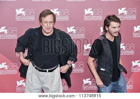 Actors William Friedkin and Emile Hirsch