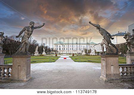Mirabell Garden Of Salzburg, Austria