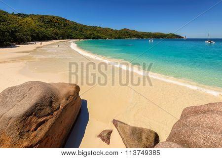 Fine Anse Lazio tropical beach at Praslin island, Seychelles