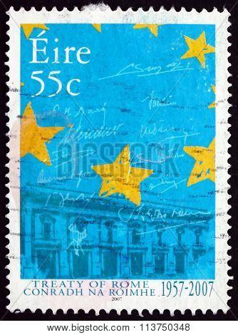 Postage Stamp Ireland 2007 Treaty Of Rome