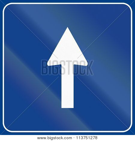 Road Sign Used In Italy - One Way