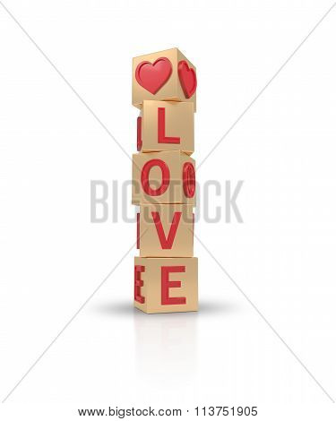 Gold Banner Love