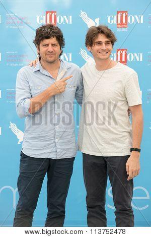 Actors Fabio De Luigi and Angelo Duro