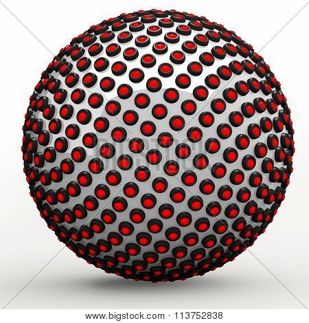Abstract Techno Sphere, 3D Golden Ratio And Fibonacci Sequence Concept