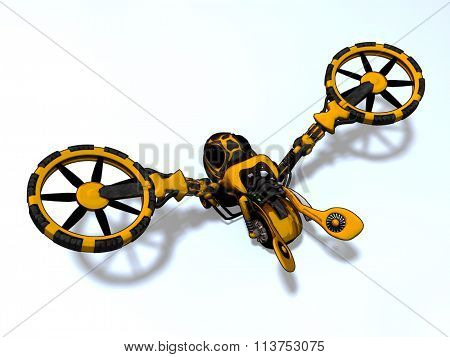 Wasp Air Vehicle 3D Render