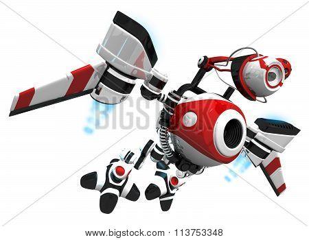 Spy Bot Or Webcrawler Flying To Next Inspection