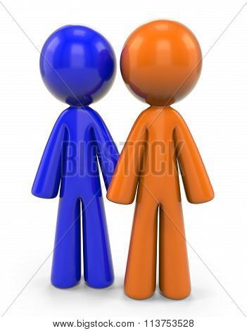 Orange And Blue Man