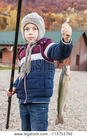 Boy Caught Trout