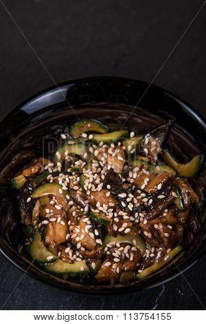 Salad unagi Curie, Japanese cuisine