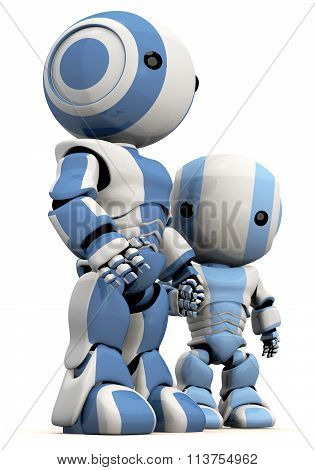 3D Robot Father And Son