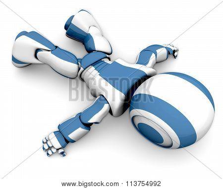 3D Robot Lying Down