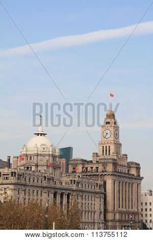 HSBC building and customs house in The bund Shanghai People's Republic of China