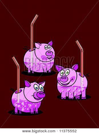 Piggy Pink Drinks