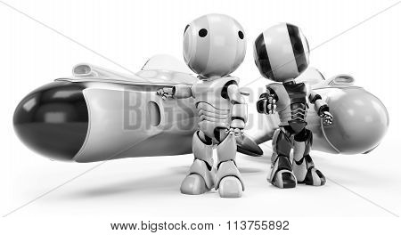 Two Robots With Hover Rockets