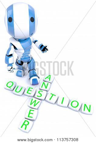 Blue Robot Crossword Puzzle Questions Answers