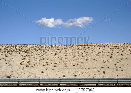 A cloud over the desert