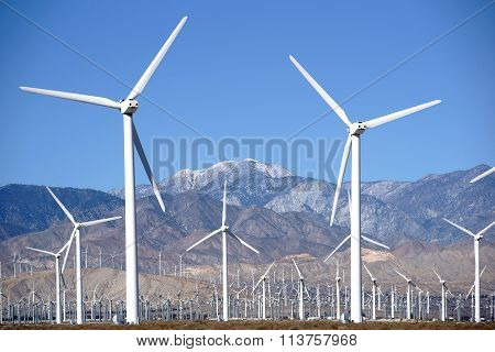 Wind turbine Park Palm Springs