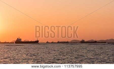 Silhouette Oil Tanker, Gas Tanker