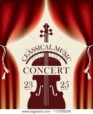 Poster For A Concert Of Classical Music