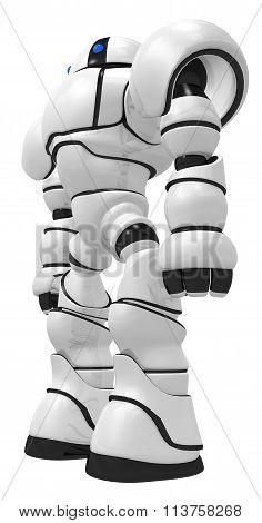 Robot Behemoth Standing Tall Facing Sidways