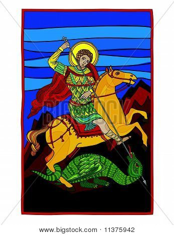 Saint Gheorghe Killing The Dragon
