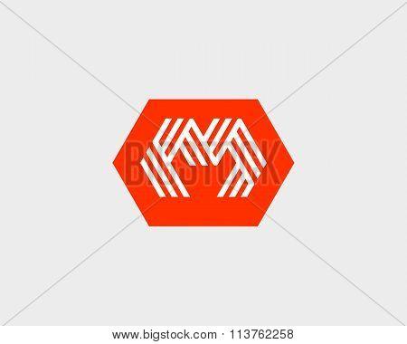 Letter M W logo icon vector design. Creative line symbol.