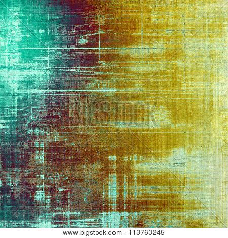 Old ancient texture, may be used as abstract grunge background. With different color patterns: yellow (beige); brown; gray; blue; cyan