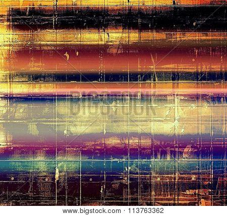 Grunge, vintage old background. With different color patterns: yellow (beige); black; purple (violet); red (orange); blue
