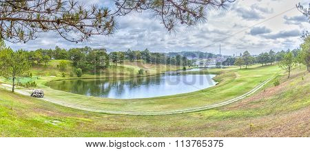 Panoramic beauty of Da Lat Golf Course hillside