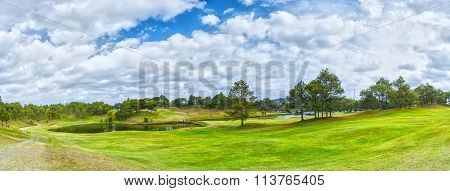 Panorama Golf inside pine forest in Da Lat, Vietnam